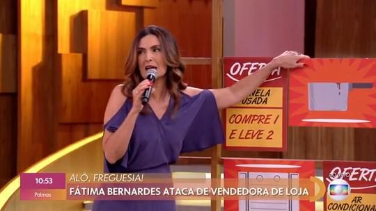 Fátima Bernardes ataca de vendedora de loja