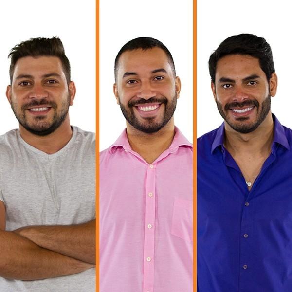 Caio, Gilberto e Rodolffo estão no paredão do 'BBB' 21 (Foto: Reprodução)