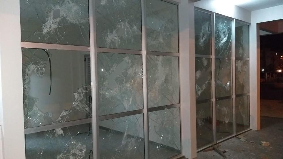 UPC do Macapaba foi depredada na noite de terça-feira (10) — Foto: PM/Divulgação