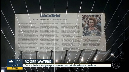 Roger Waters faz show histórico no Maracanã e participa de ato em homenagem a Marielle Franco