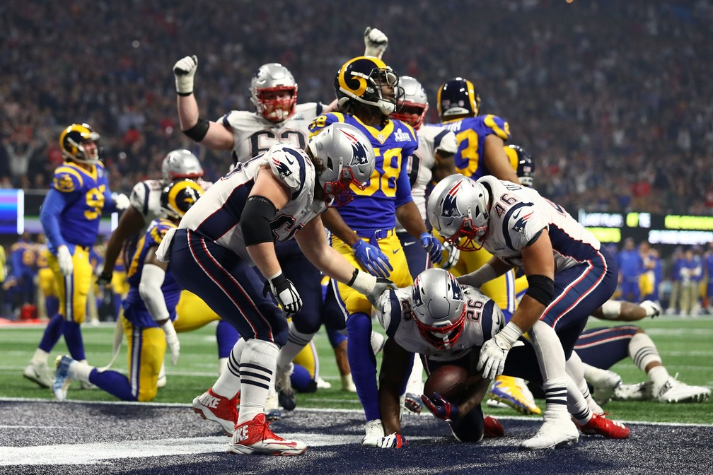 Super Bowl LIII - New England Patriots x Los Angeles Rams - Sony Michel — Foto: Maddie Meyer/Getty Images