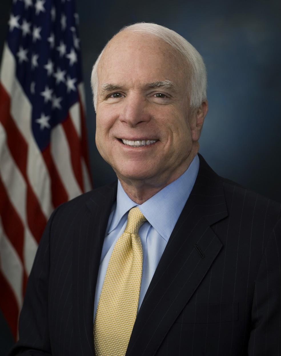 Foto oficial do senador John McCain (Foto: Divulgação/Senado dos EUA)