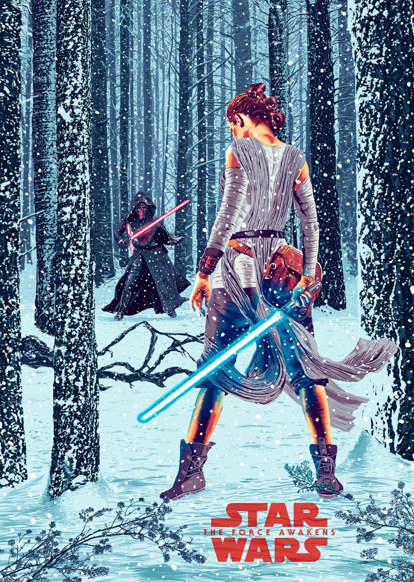 """Poster de """"Star Wars: O Despertar da Força"""" ilustrado por Amaury Filho (Foto: Amaury Filho/Behance)"""