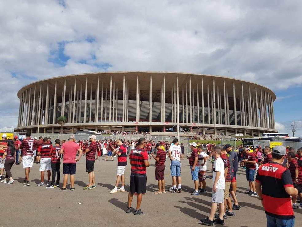 Estádio Mané Garricha antes da Supercopa 2020 — Foto: Fred Huber