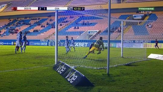 No CSA, Felipe Garcia faz defesa parecida com a do goleiro Diego Alves contra o Cruzeiro; vídeo