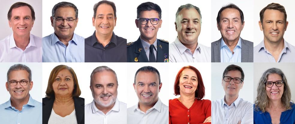 Candidatos a prefeito de Natal — Foto: G1 RN