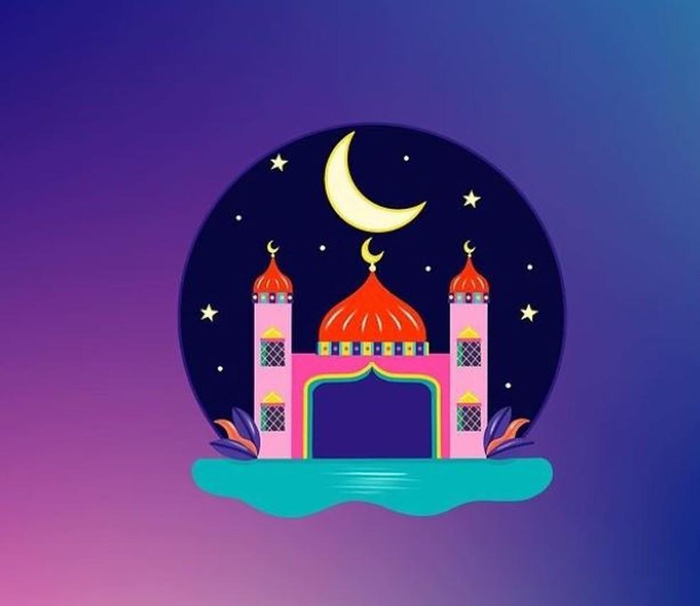 Figurinha do Instagram: mesquita — Foto: Hala AlAbbasi/Reprodução/Instagram