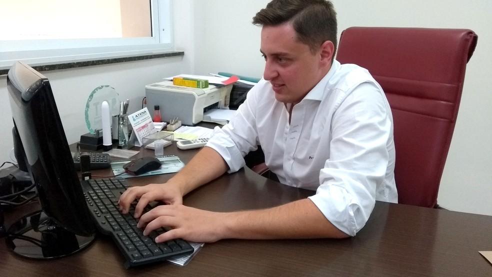Lucas Bertipaglia, diretor comercial da empresa (Foto: Patrícia Teixeira / G1)