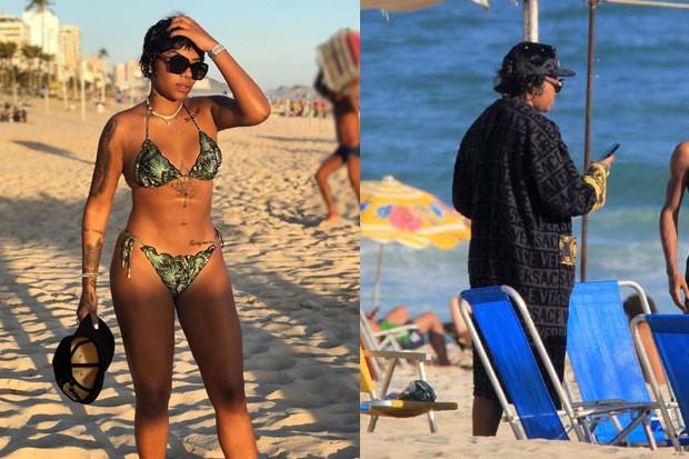 Ludmilla curte dia de praia (Foto: JC Pereira/AgNews/Reprodução/Instagram)