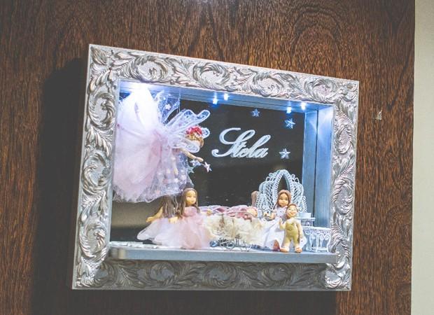 Enfeite na porta do quarto da maternidade (Foto: Arquivo pessoal)