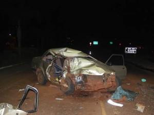 Acidente na ERS-342 deixou em um homem morto em Três de Maio (RS) (Foto: Paulo Marques Notícias/Divulgação)
