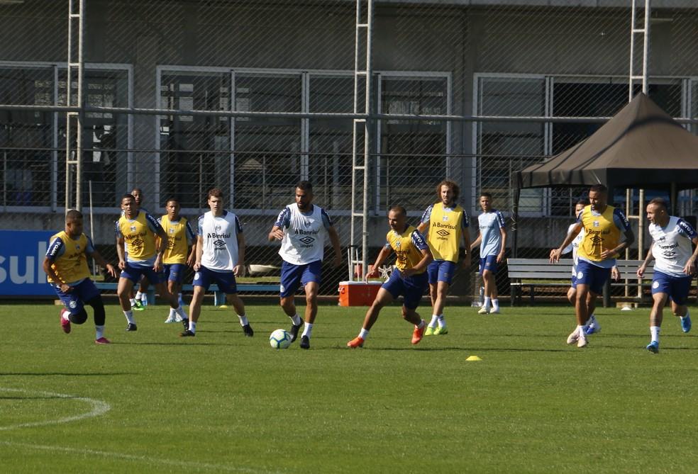 Treino do Grêmio  — Foto: Eduardo Moura