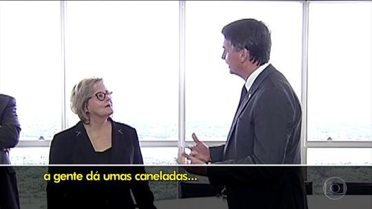Bolsonaro pede desculpas à presidente do TSE por 'caneladas' durante a campanha eleitoral
