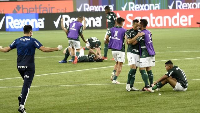 Palmeiras comemora vaga na final da Libertadores