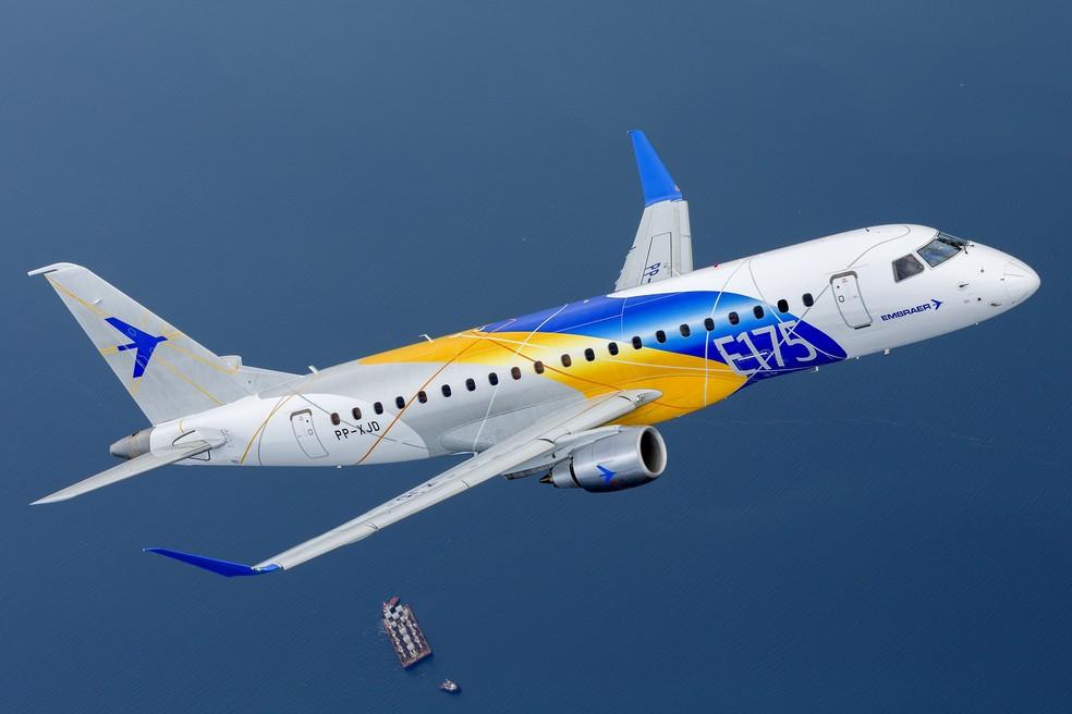 Embraer E175 — Foto: Embraer/ Divulgação
