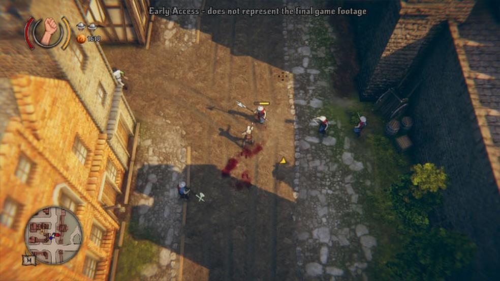 Rustler é um game medieval sandbox inspirado pelos clássicos primeiros games da série GTA — Foto: Reprodução/Steam