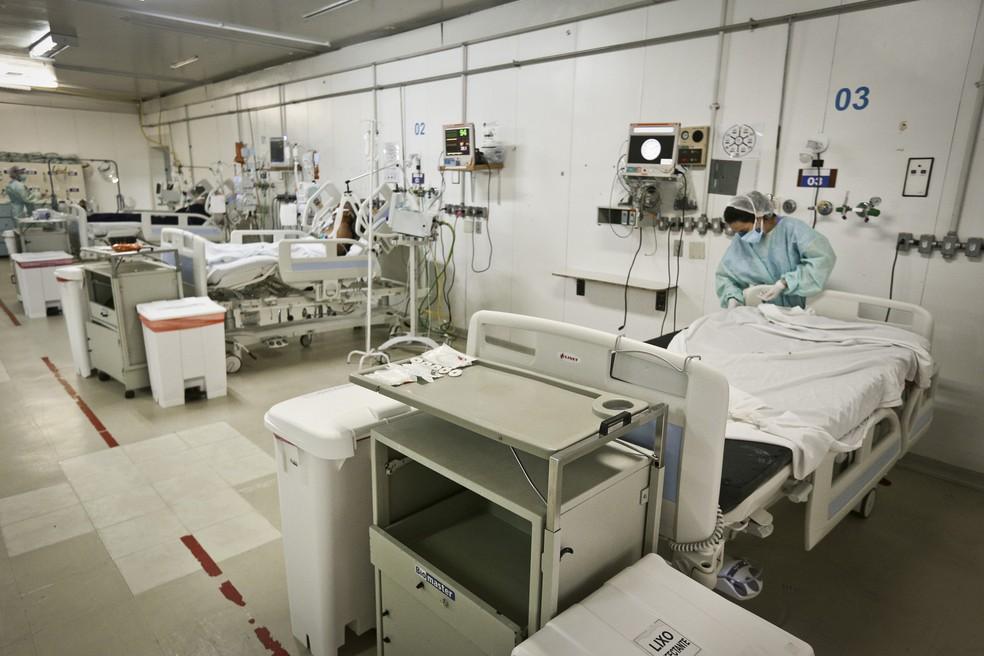 UTI de Hospital da rede pública de saúde do DF — Foto: Breno Esaki/SES-DF