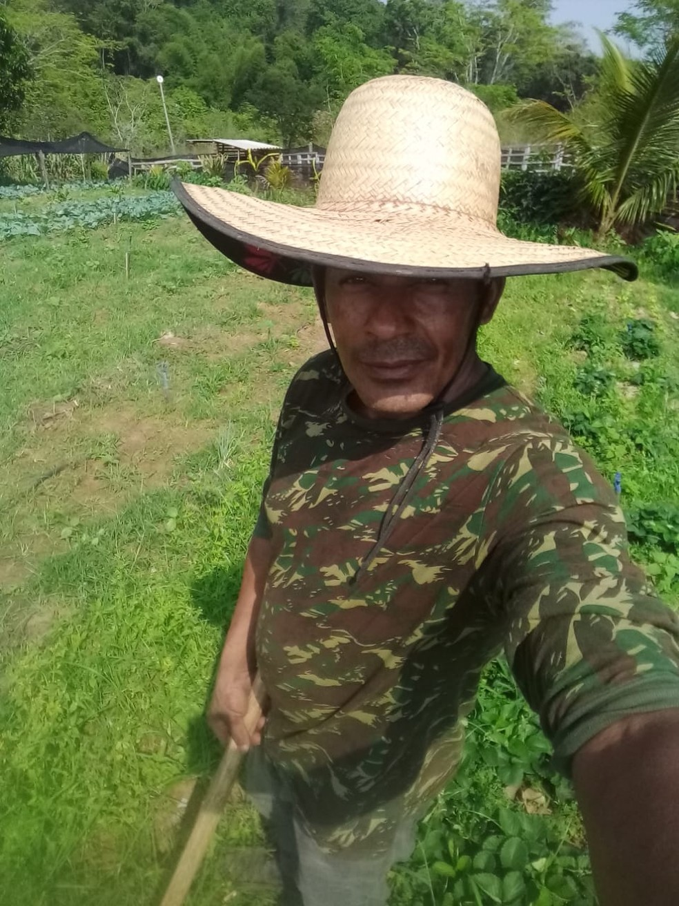 Roque Antônio dos Santos começou a divulgar a sua produção nas redes sociais este ano — Foto: Arquivo pessoal