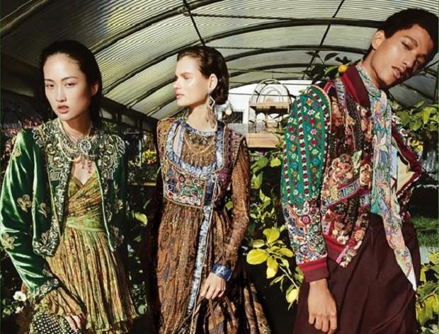 Campanha publicitária da Etro, marca de luxo italiana (Foto: Divulgação)