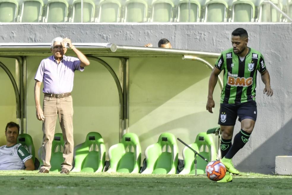 América-MG x Cruzeiro; Givanildo Oliveira — Foto: Mourão Panda/ América-MG