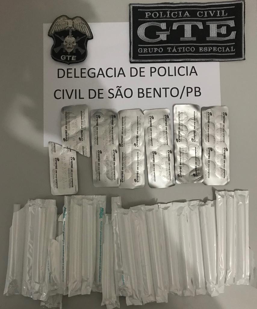Dona de farmácia é presa suspeita de venda ilegal de medicamento abortivo, em São Bento, na PB - Notícias - Plantão Diário