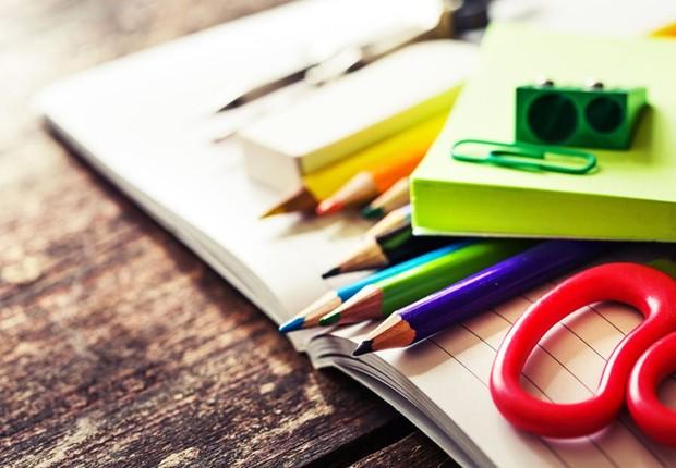 Material escolar; estudante ; educação ;  (Foto: Thinkstock)