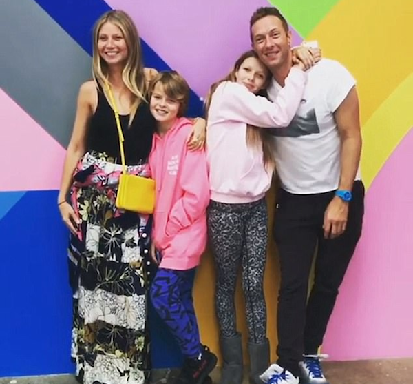 Chris Martin e Gwyneth Paltrow com os filhos (Foto: Instagram)