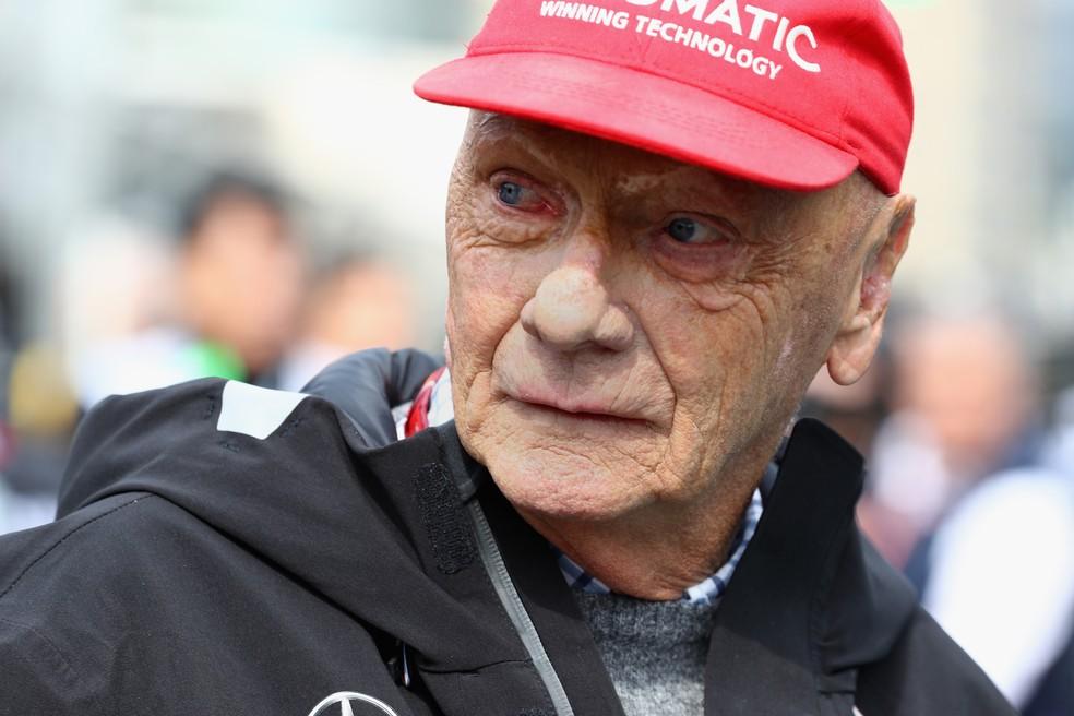 Niki Lauda era presidente não executivo da equipe Mercedes — Foto: Getty Images