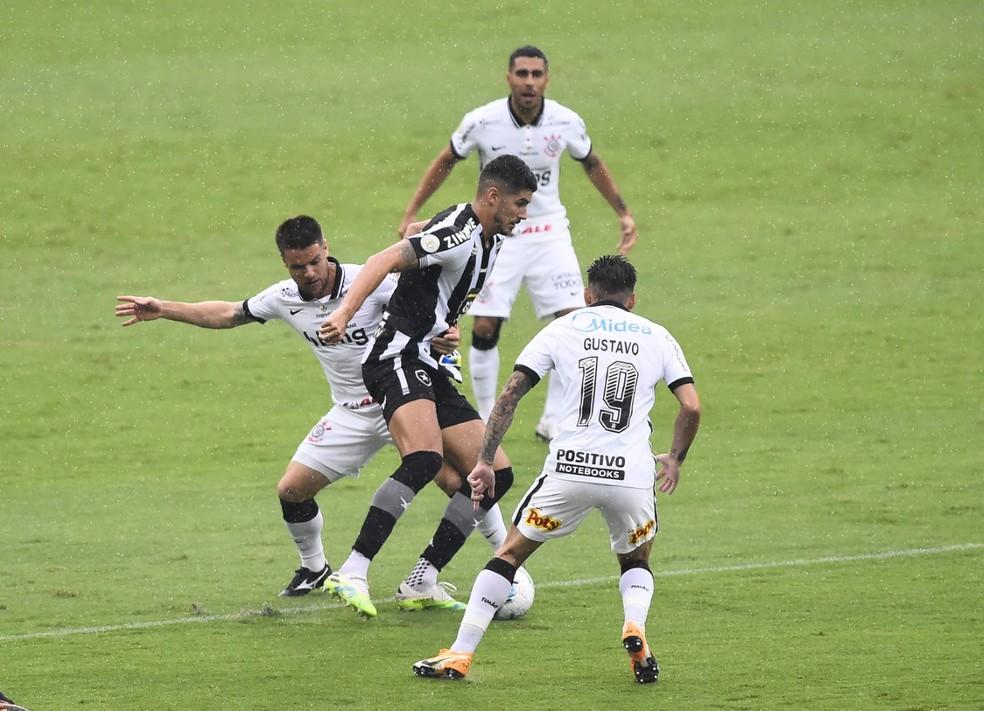 Ataque não funcionou contra o Corinthians — Foto: André Durão