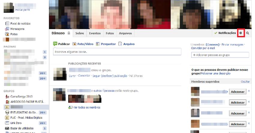 Como mudar as configurações de privacidade de um grupo do Facebook