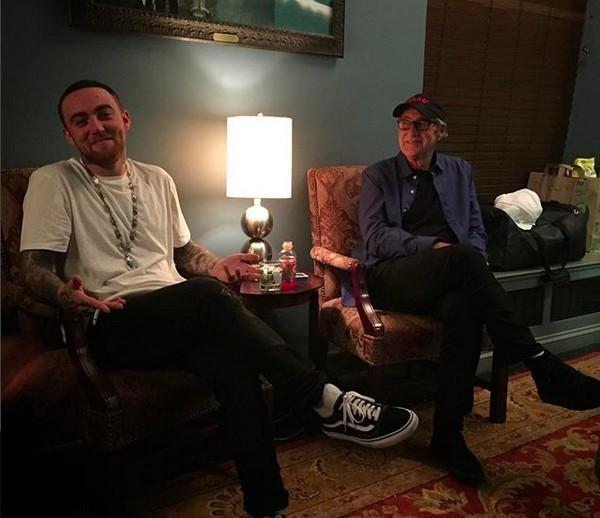 O rapper Mac Miller (1992-2018) com o pai (Foto: Instagram)