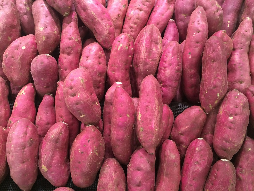 A batata doce é um dos principais ingredientes da cozinha tradicional de Okinawa — Foto: Pixabay