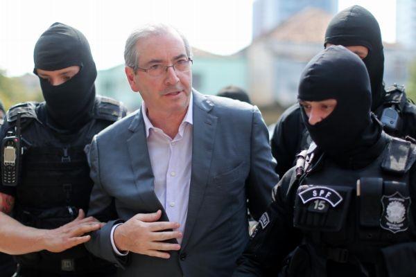 Eduardo Cunha quando foi preso, em outubro de 2016