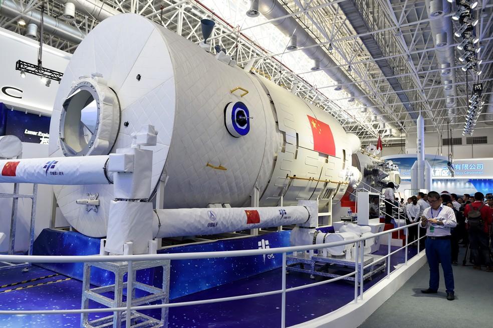 China apresenta sua futura estação espacial durante feira aeronáutica e  aeroespacial   Ciência e Saúde   G1