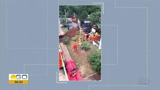 Corpo de funcionário da Saneago é encontrado soterrado a 7 metros de profundidade, em Planaltina