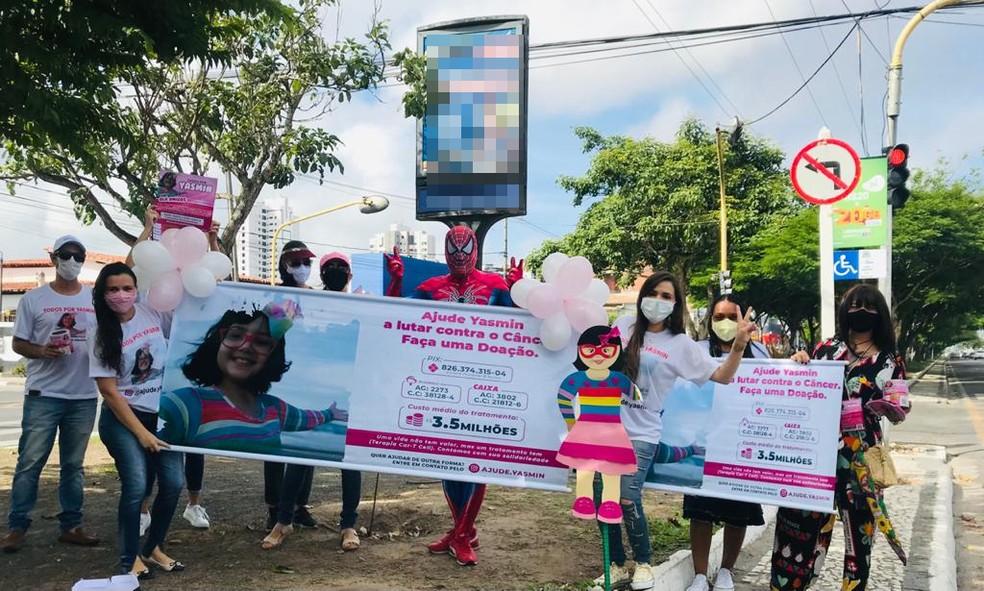 Grupo fez pedágio para ajudar Yasmin Nunes — Foto: Arquivo Pessoal