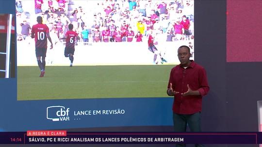 Integrantes do VAR debatem sobre lance polêmico de Athletico-PR e Flamengo; veja vídeo
