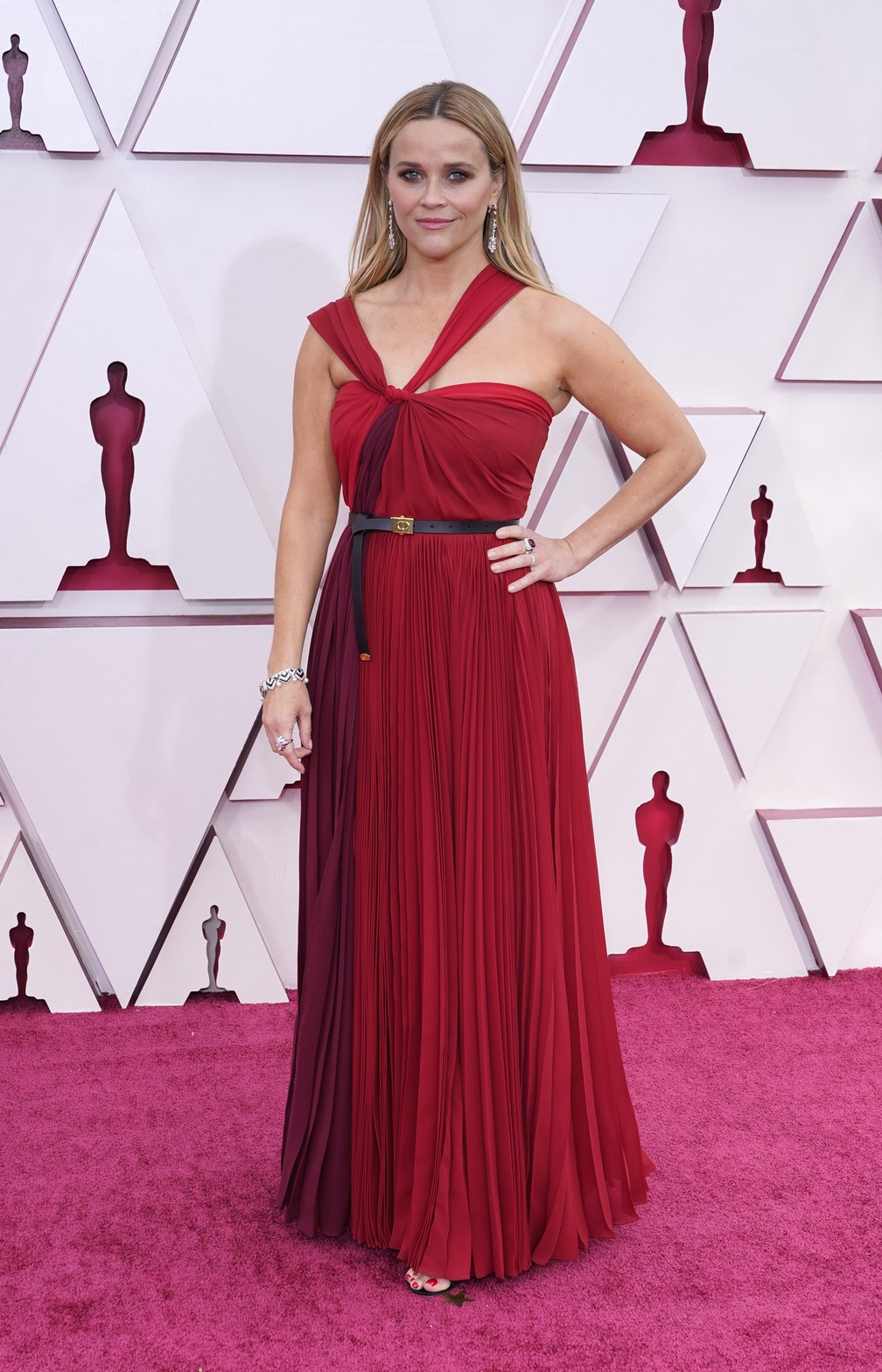Reese Witherspoon no Oscar 2021 — Foto: AP Photo/Chris Pizzello