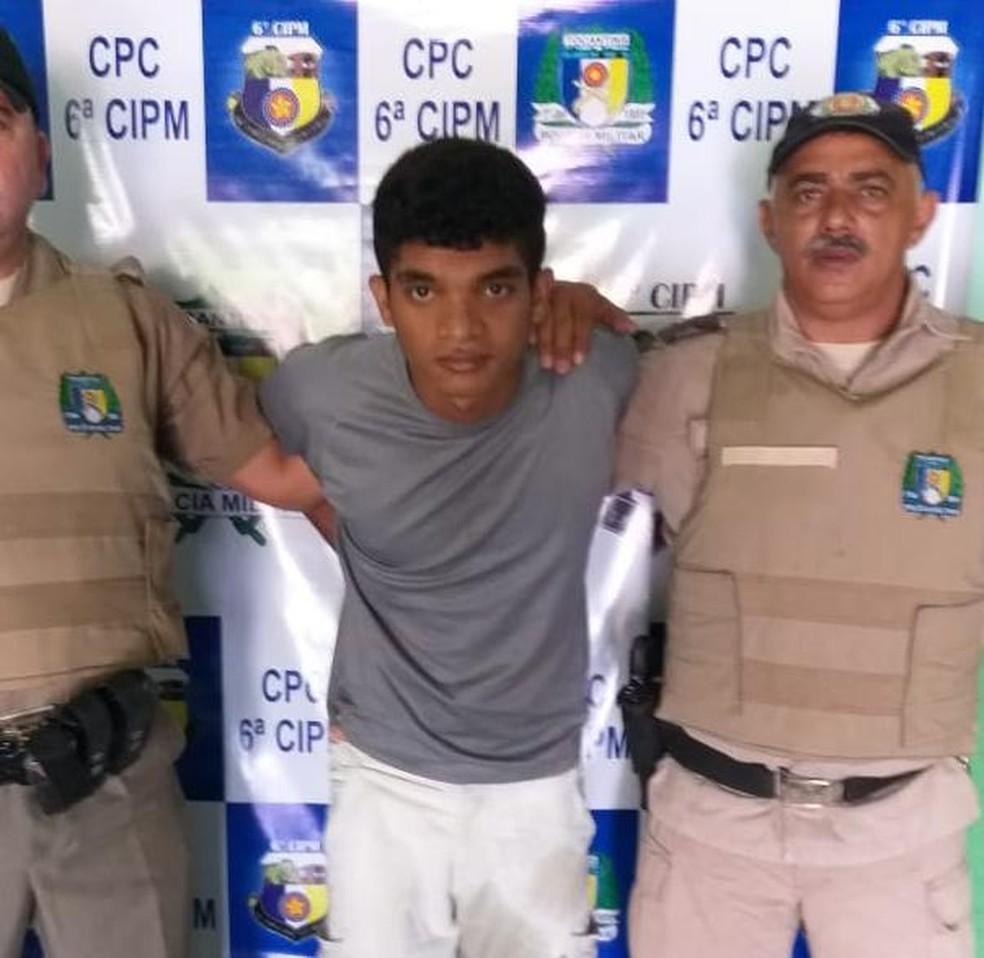 Júnior Pereira foi recapturado pela Polícia Militar — Foto: Divulgação