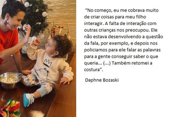 Daphne Bozaski criou nova rotina (Foto: Reprodução)