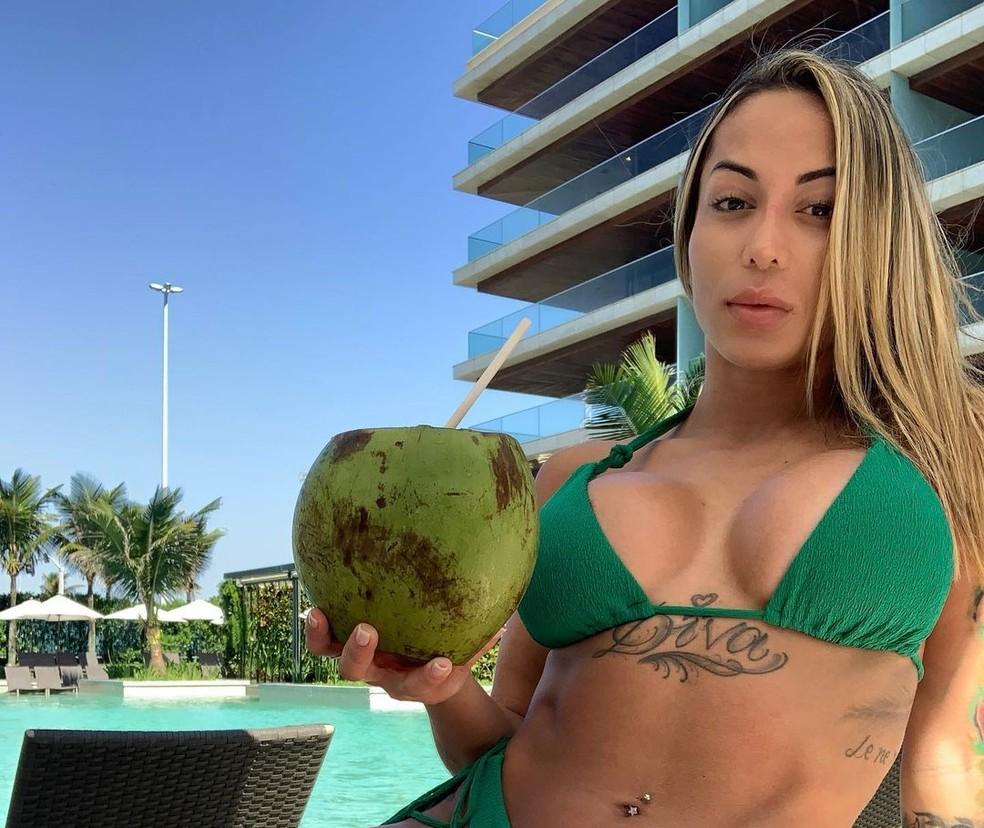 Bianca Domingues, modelo que teria presenciado a morte do MC Kevin — Foto: Reprodução/Redes sociais