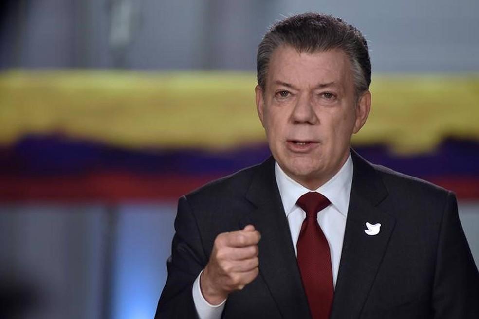 O presidente da Colômbia, Juan Manuel Santos, assinou novo acordo com as Farc (Foto: Presidência da Colômbia/Reuters)