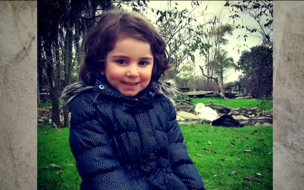 Menina Sophia morreu asfixiada em SP; pai é acusado pelo crime (Foto: Reprodução/TV Globo)