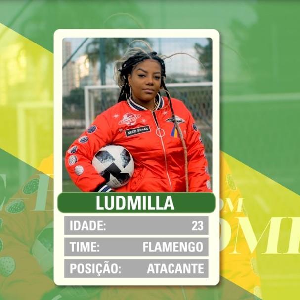 Ludmilla responde perguntas sobre futebol e a vida (Foto: Reprodução)
