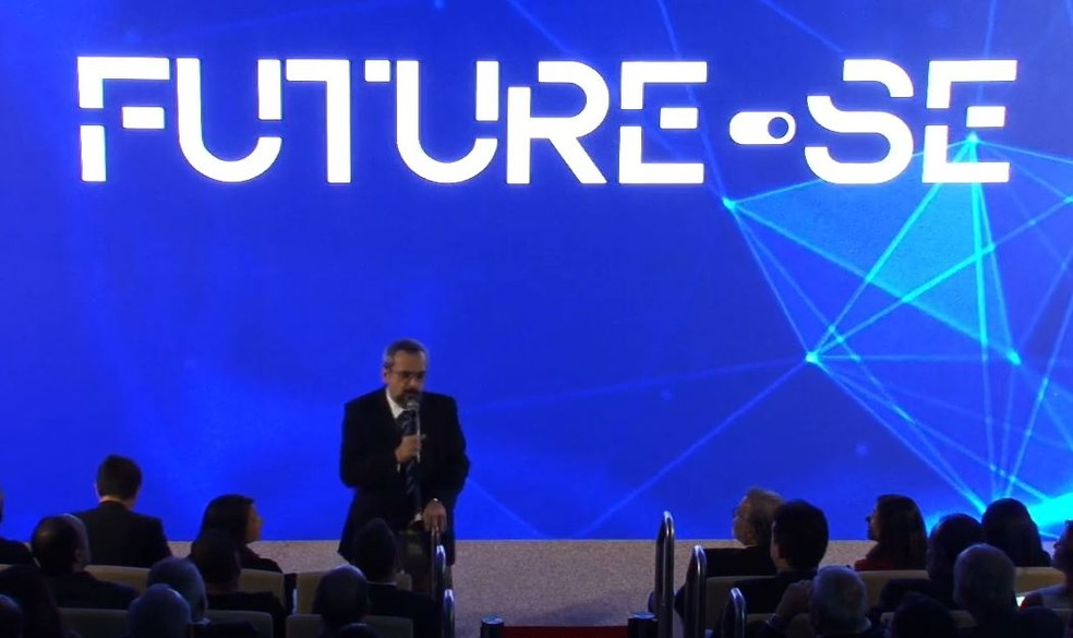 Ministro da Educação, Abraham Weintraub, apresenta o programa 'Future-se'. â?? Foto: Reprodução/Facebook/Ministério da Educação - MEC