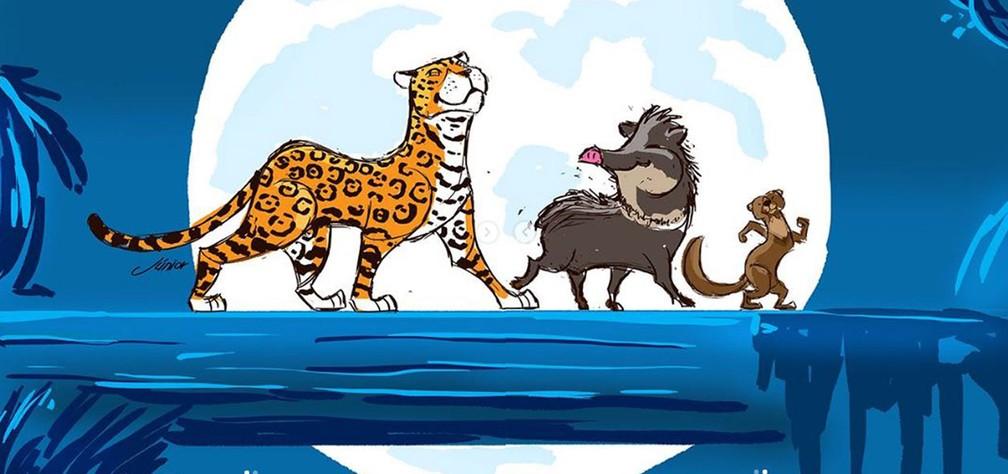 Resultado de imagem para Artista Recria 'Rei Leão' com animais Brasileiros