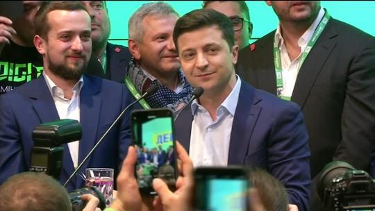 Comediante vence eleições presidenciais na Ucrânia