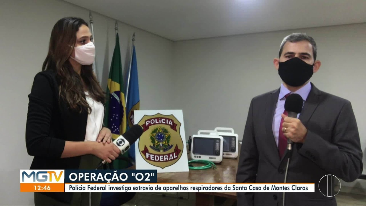 Delegado da PF fala sobre operação para apurar extravio de respiradores em Montes Claros