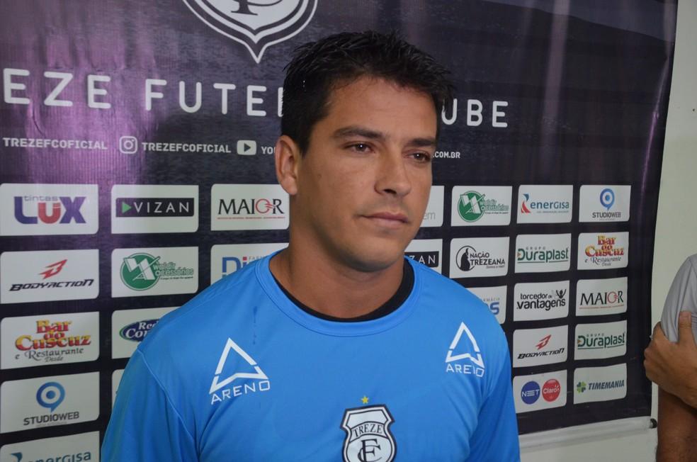 Tozin, atacante do Treze (Foto: Silas Batista / GloboEsporte.com)