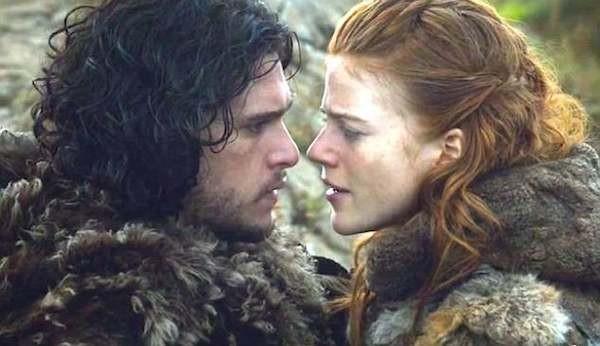 O ator Kit Harington e a atriz Rose Leslie em Game of Thrones (Foto: Reprodução)